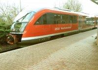 Westfrankenbahn am Schöllkrippener Bahnhof